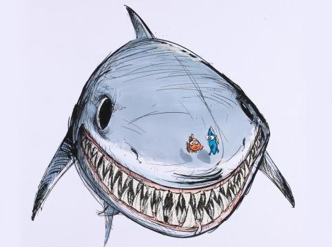 Pixar_Ausstellung_Nemo_Zeichnung