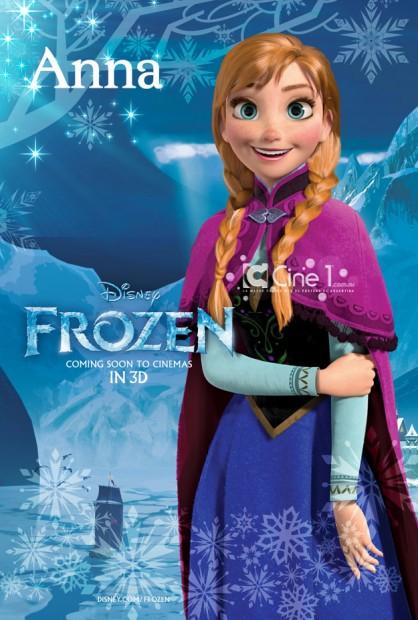 Charakter Poster zu Disneys Frozen
