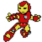 Iron Man und Star Trek in 8-Bit Grafik nacherzählt