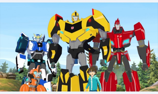 HASBRO and its logo, TRANSFORMERS, TRANSFORMERS: ROBOTS IN DISGUISE and all related logos and characters are trademarks of Hasbro and are used with permission. © 2014, 2015 Hasbro. All Rights Reserved.