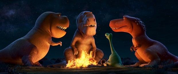 THE GOOD DINOSAUR - Pictured (L-R): Nash, Butch, Spot, Arlo, Ramsey. ©2015 Disney•Pixar. All Rights Reserved.